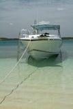 Bateau d'Achored à l'Antigua Image libre de droits
