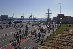 Bateau d'Amerigo Vespucci au port d'Ancona Photographie stock