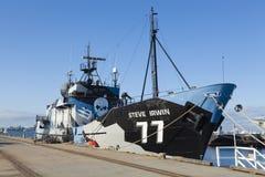 Bateau d'anti-pêche à la baleine de Shephered de mer photos libres de droits
