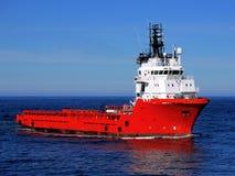 Bateau d'approvisionnement en mer N photos libres de droits