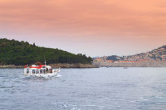 Bateau d'excursion de Dubrovnik Photo stock
