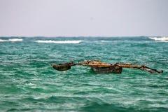 Bateau d'indigène d'Africal photo stock