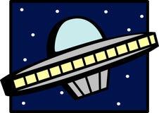 Bateau d'UFO Images libres de droits