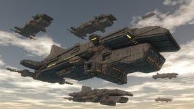 Bateau d'UFO d'étranger illustration de vecteur