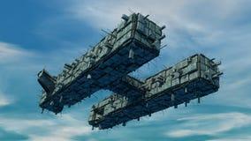 Bateau d'UFO d'étranger Photo stock