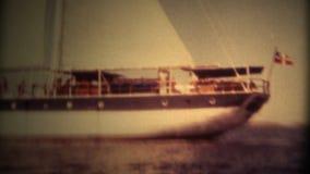 Bateau Danemark 1982 de grand voilier marchand (de film 8 superbe) banque de vidéos