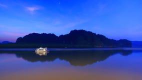 Bateau dans la lagune Photographie stock libre de droits