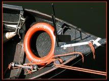Bateau dans le Bunschoten-port Image libre de droits