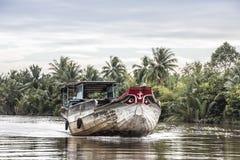 Bateau dans le delta du Mékong images stock