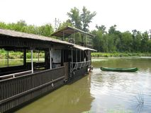 Bateau dans le marais Images stock