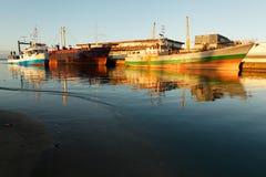 Bateau dans le port de Tamatave Image libre de droits
