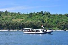 Bateau dans Lombok photo libre de droits