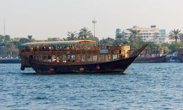 Bateau dans Port-Saïd à Dubaï, EAU Photographie stock libre de droits