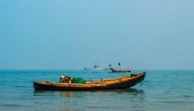 bateau 3 dans une rangée Image stock