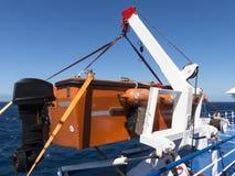Bateau de bateau d'équipement d'urgence de canot de sauvetage Photographie stock libre de droits