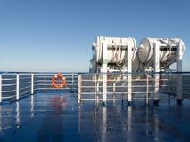Bateau de bateau d'équipement d'urgence de radeau de sauvetage Photos libres de droits