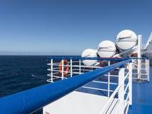Bateau de bateau d'équipement d'urgence de radeau de sauvetage Photo libre de droits
