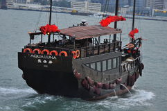 Bateau de camelote à Hong Kong Photos libres de droits