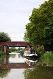 Bateau de canal Photographie stock