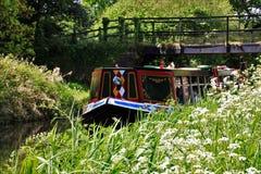 Bateau de canal Images stock