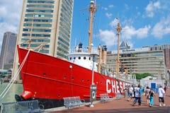 Bateau de chesapeake dans le port intérieur de Baltimore Photos stock