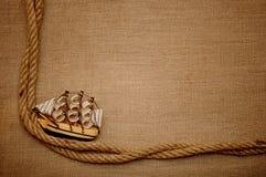 Bateau de classique de corde et de modèle Photo libre de droits