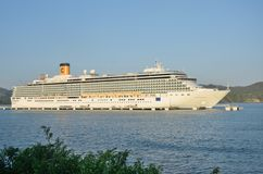 Bateau de Costa Deliziosa Cruise chez Amber Cove Photo stock