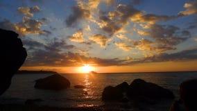 Bateau de coucher du soleil Image libre de droits