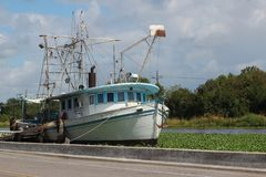 Bateau de crevette de la Louisiane photos stock