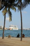 Bateau de croisière AIDA luna accouplé à Miami Image libre de droits