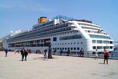 Bateau de croisière Costa Victoria Terminal maritime, Vladivostok, Russie Image stock