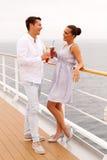 Bateau de croisière de couples Image libre de droits