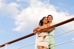 Bateau de croisière de couples Images libres de droits
