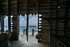 Bateau de croisière en Bahamas Image stock