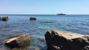 Bateau de croisière sur la Mer Noire banque de vidéos