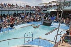 Bateau de croisière en mer Photos libres de droits