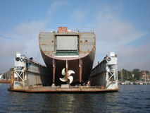 bateau de dock Images stock