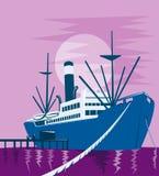 bateau de dock de cargaison Images stock