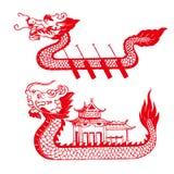 Bateau de dragon Image libre de droits