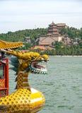 Bateau de dragon dans le palais d'été Photographie stock libre de droits