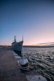 Bateau de guerre de bataille de marine Photographie stock
