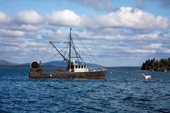 Bateau de homard, Maine Photographie stock