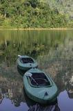 Bateau de kayak de jumeaux Photo libre de droits
