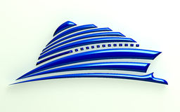 bateau de l'illustration 3D illustration libre de droits
