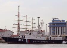 Bateau de la garde-côte à Sotchi, Russie images libres de droits