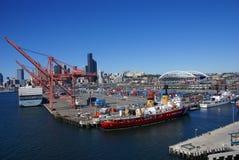Bateau de la garde côtière des USA sur bord de mer de Seattle Image stock