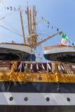 Bateau de la Marine italien, Amerigo Vespucci Photos libres de droits