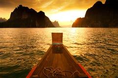 bateau de Long-arrière Photos stock