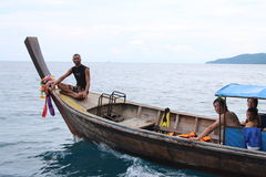 bateau de Long-queue Photo stock