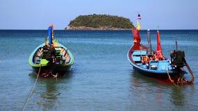 Bateau de Longtail en Thaïlande Image stock